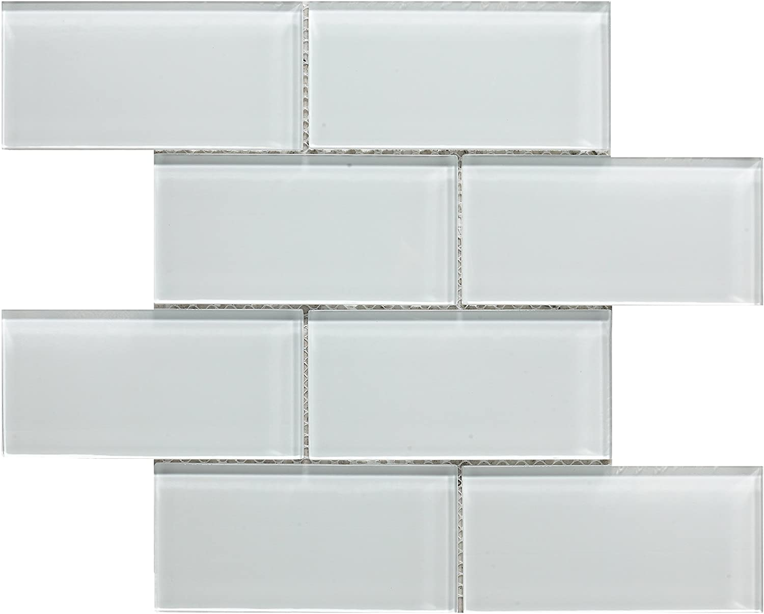 Decostyle DEC-47451AOWSOH ERB Mosaic Decorative, 8 mm, 30 x 30 cm, White,