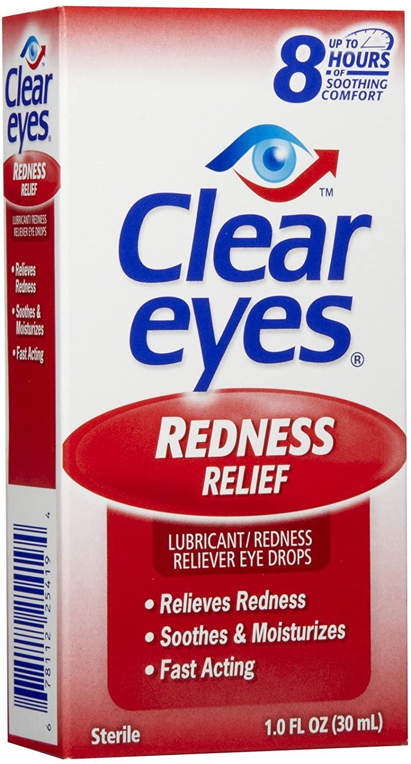 Clear Eyes Redness Relief Eye Drops-1 oz