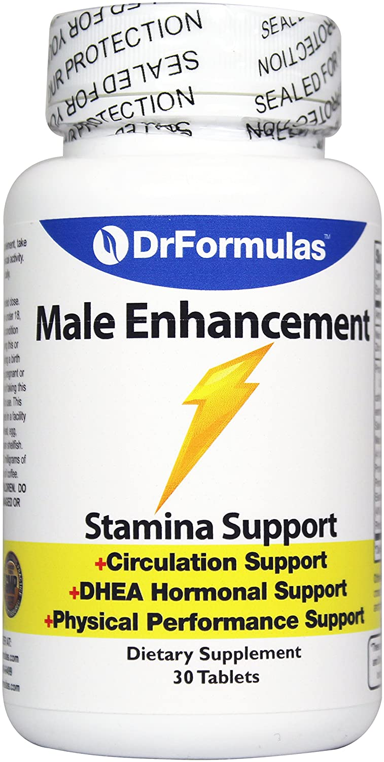 DrFormulas Male Enhancing Pills for Stamina, Increase Size with Terrestris, Tongkat, Arginine, and Caffeine, 30 Tablets