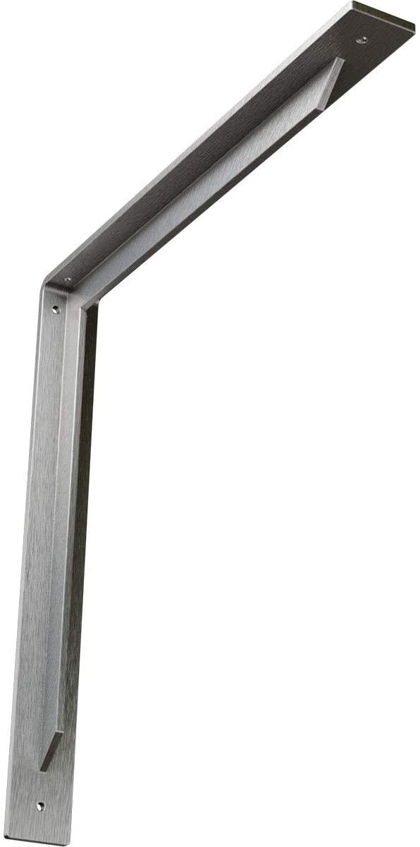 Ekena Millwork BKTM02X18X18STSS-CASE-6 2 W D x 18 H Stockport Bracket, Stainless Steel (6-Pack), 6 Piece