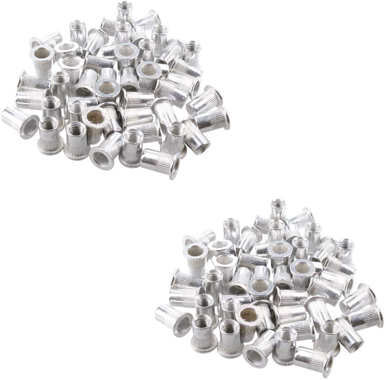 M6 6mm Alu Nut Serts Riveting Nuts Rivet Threaded Inserts Blindnut Rivnut 100pc