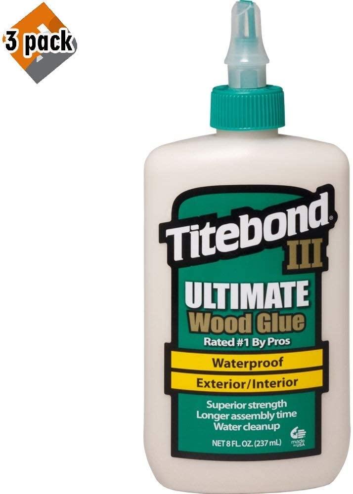Titebond 1413 III Ultimate Wood Glue, 8-Ounces - 3 Pack