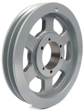 1/2 - 2-15/16 Bushed Bore 2 Groove V-Belt Pulley 15 OD