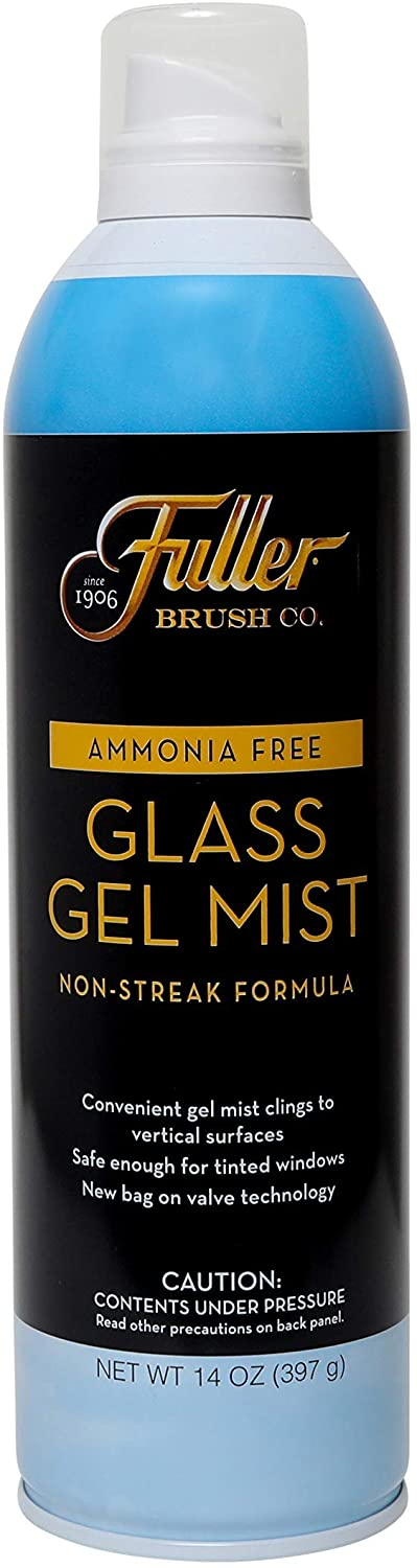 Fuller Brush Glass Gel Mist Spray - Non Streak & Ammonia Fre e Window Cleaner for Cleaning Frosted & Tinted Glass, Cooktop, Mirror & Lens - Safe & Easy Clean for Home & Business