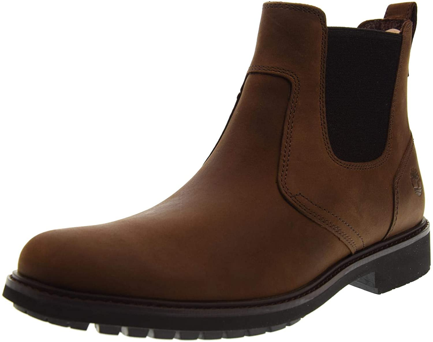 Timberland Mens Earthkeepers Stormbuck Chelsea Dark Brown Ankle Boots Size 7