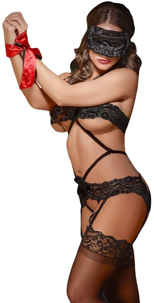 Bands of Lace Lace Diamond Teddy S/m