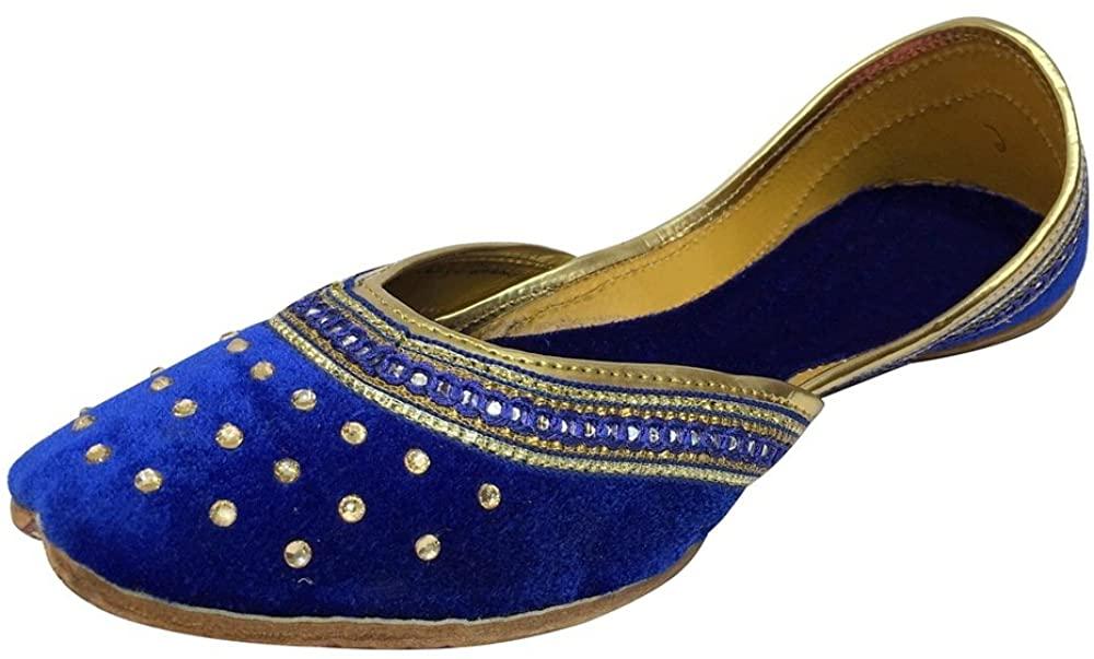Step n Style Punjabi Jutti Indian Shoes Flat Flop Flop Khussa Shoes Salwar Kameez Sandals