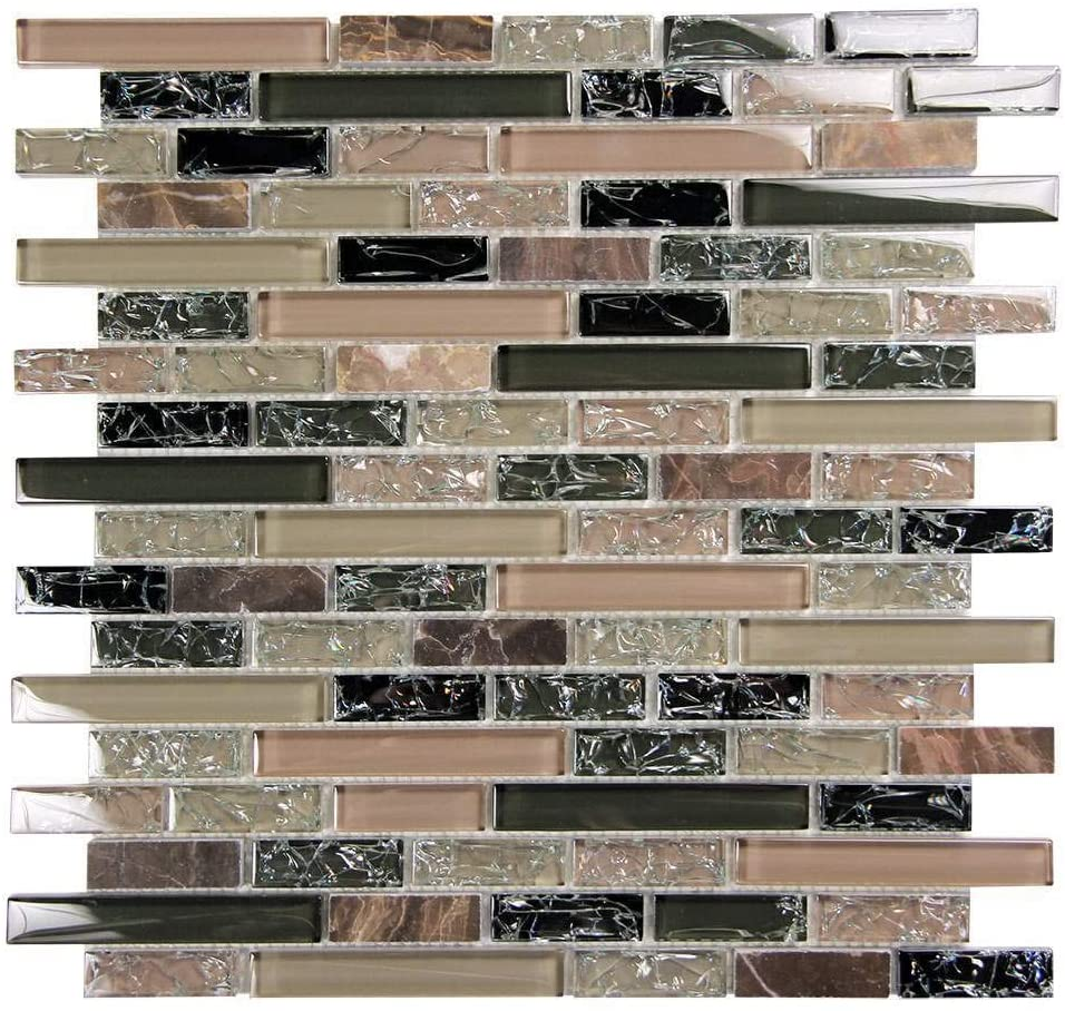 Eros 1 Green Mosaic Glass Tile Sample Approximately 3