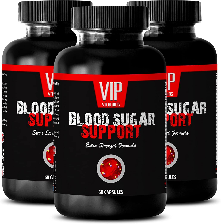 Huckleberry herb Powder - Blood Sugar Support - Glucose Tablets (3 Bottles - 180 Capsules)