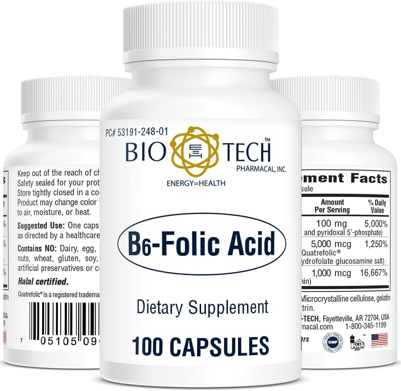 BioTech Pharmacal - B6 Folic Acid - 100 Count