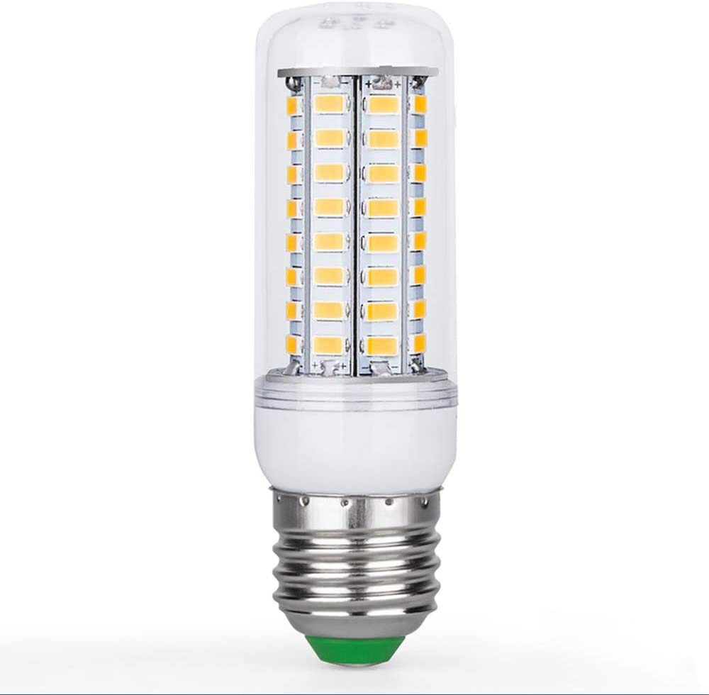 LED Corn Bulb Transparent Cover Screw Indoor Energy-Saving Lighting (5Pcs),3000k,E27 69Leds 4.3W