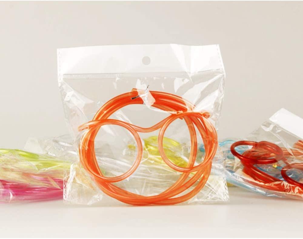 Qsir Fun And Funny Straws Children's Glasses Straws Eye Straws Creative Straws Art Diy Modeling Straws Wholesale Orange