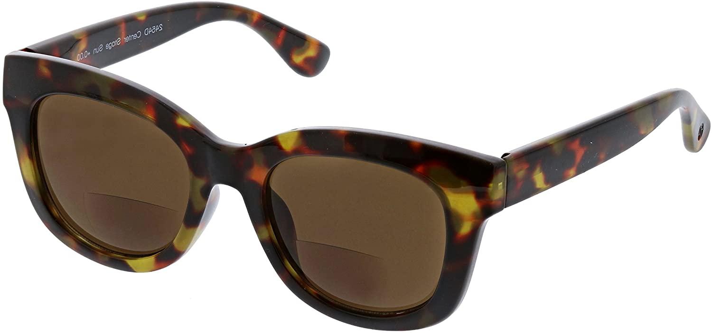 Peepers by PeeperSpecs Women's Center Stage Hideaway Oversized Bifocal Sunglasses, Tortoise, 51 mm + 2.5