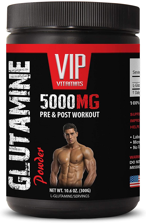 pre Workout Caffeine Free - GLUTAMINE Powder 5000MG - PRE & Post Workout - glutamine Workout - 1 Can 300 Grams