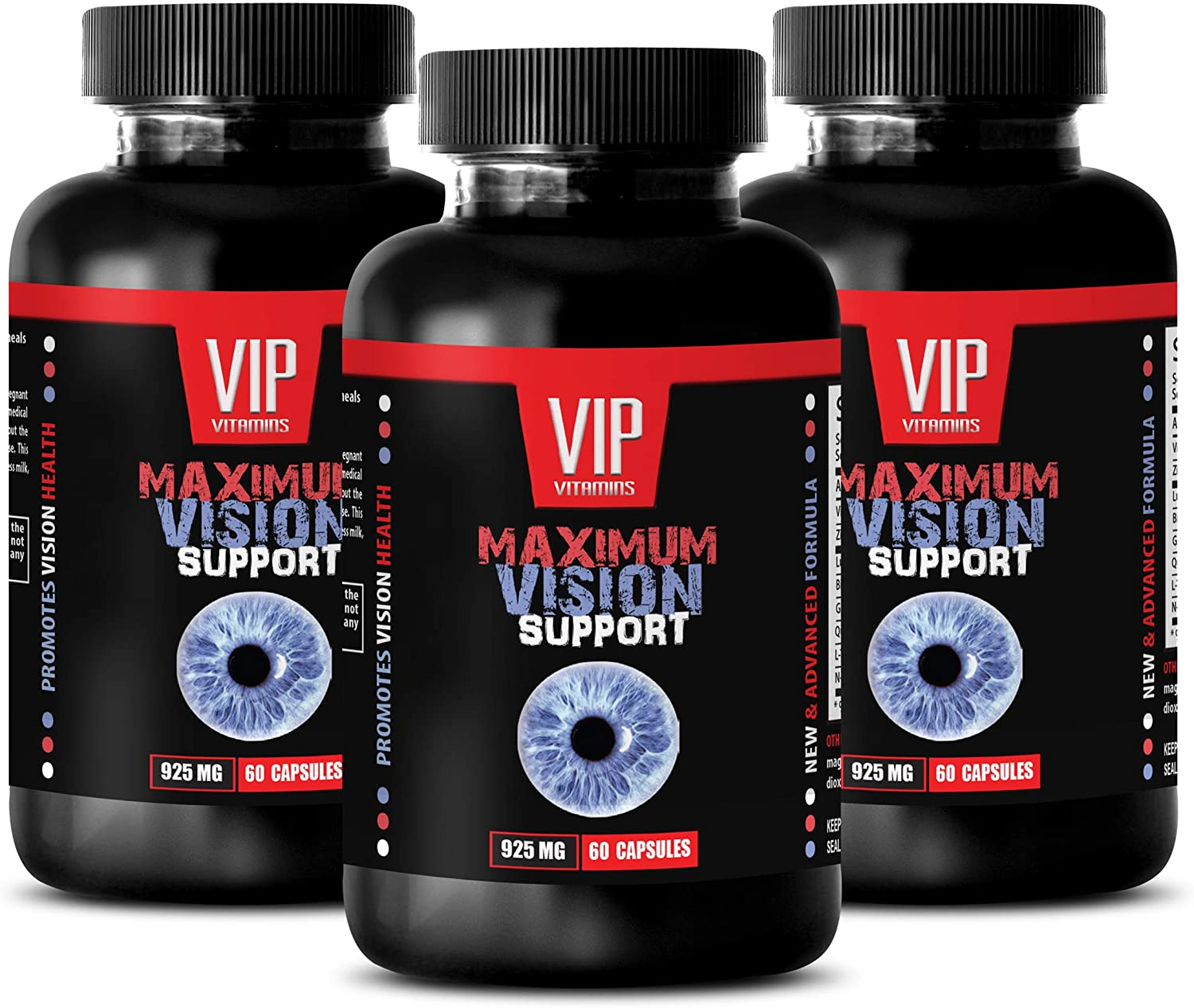 Vision Support Eye Formula - Maximum Vision Support - quercetin Plus Vitamin - 3 Bottle 180 Capsules