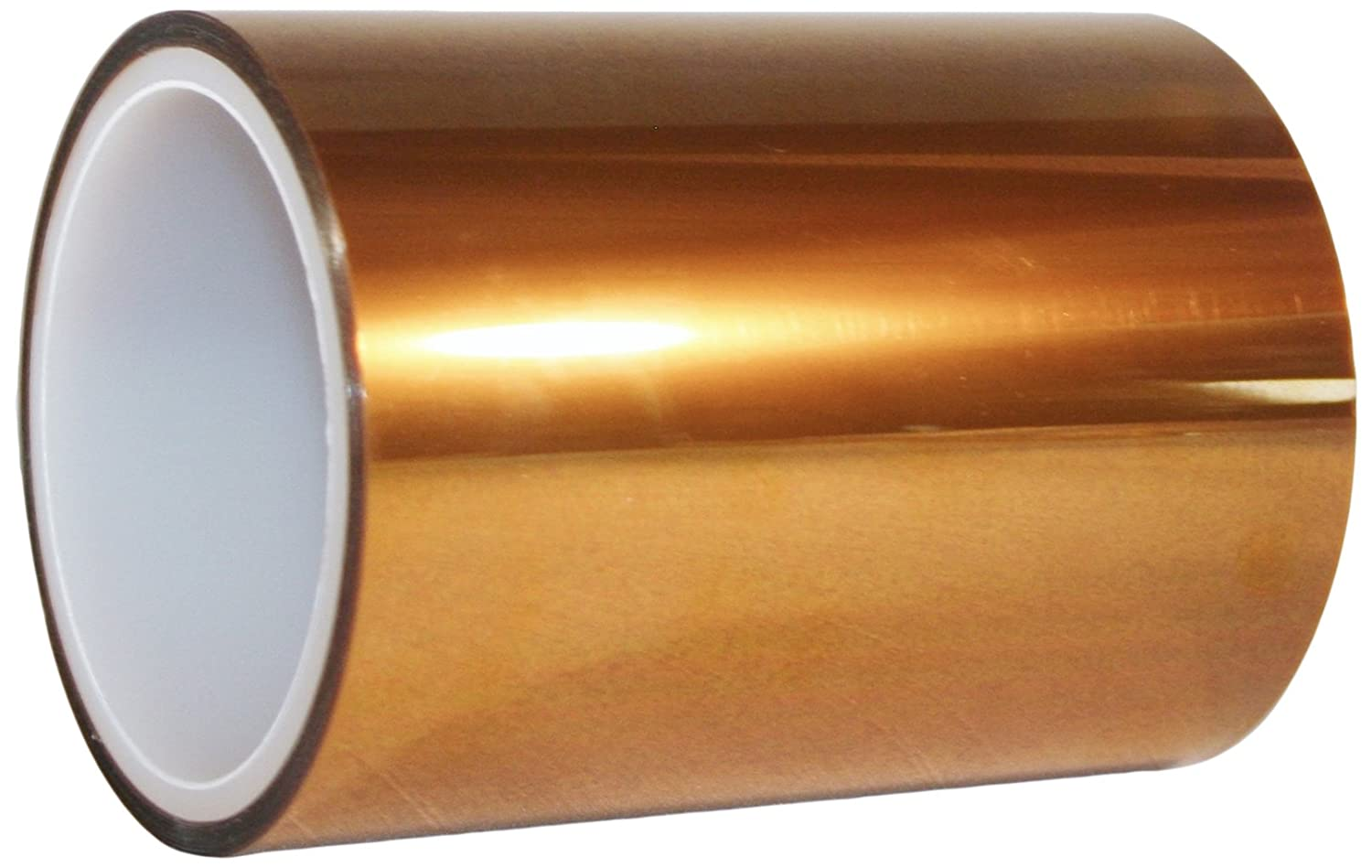 Maxi MAXI-3D-835-09 Amber Polyimide Electrical Tape, 500 Degrees F Maximum Temperature, 11000 Dielectric Strength, 36 yd Length x 9 yd Width