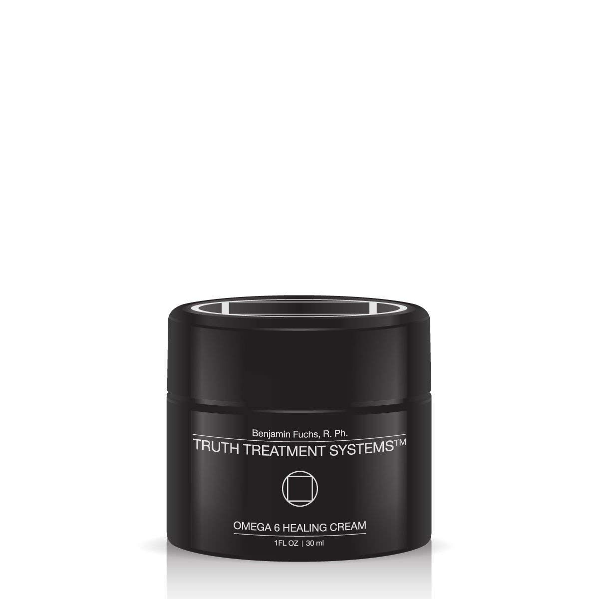 Omega 6 Healing Cream (30ML) by Benjamin Knight R.Ph. Truth Treatment Systems – Skin Repairing Balm with Vitamin C - Helps Prevent Scars - Rich Hydrating Lotion