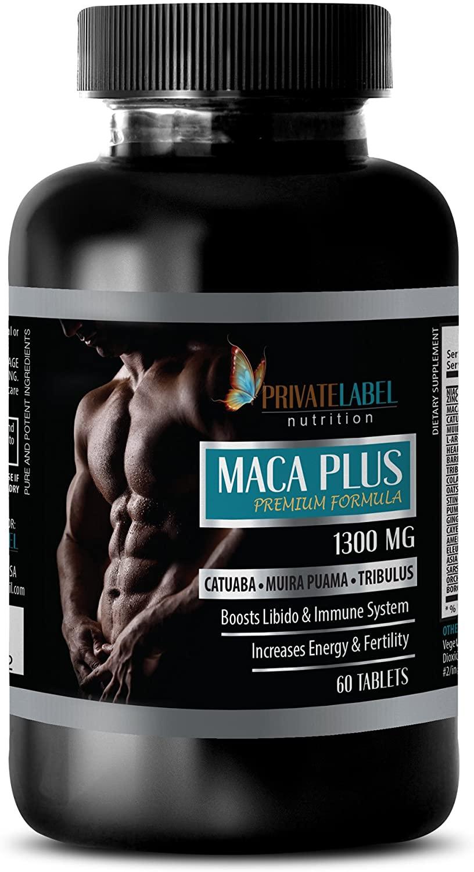 Libido max - MACA Plus Advanced Formula 1300MG - Maca arginine - 1 Bottle (60 Tablets)