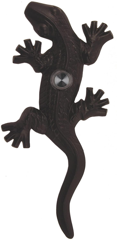 Waterwood Brass Large Lizard/Gecko Doorbell in Black