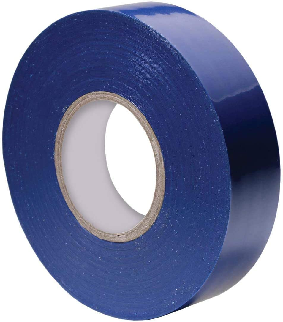 PVC Cold-Resistant Electrical Insulation Tape Waterproof 5 Colors Ultrathin 0.1mm Super Sticky Adhesive Electrical Tape for Industry and Household Wires attaching 0.7inch66feet/1 roll Blue