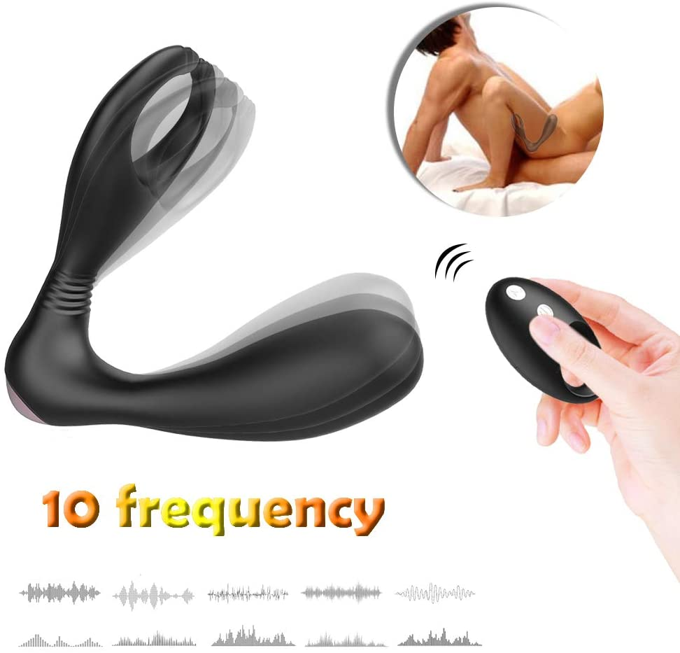 9 Frequency Ṽịbrǎtion, an-ǖs Massǎge Tool, G Double Excitement, for Men Lingerie for Women