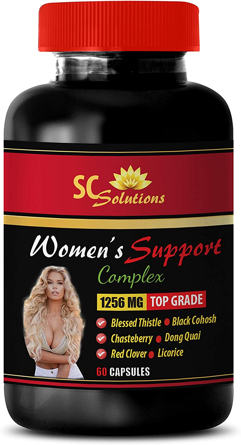 Blood Pressure reducing Supplements - Women's Support Complex 1256 MG - Dong quai Root Capsules - 1 Bottle (60 Capsules)