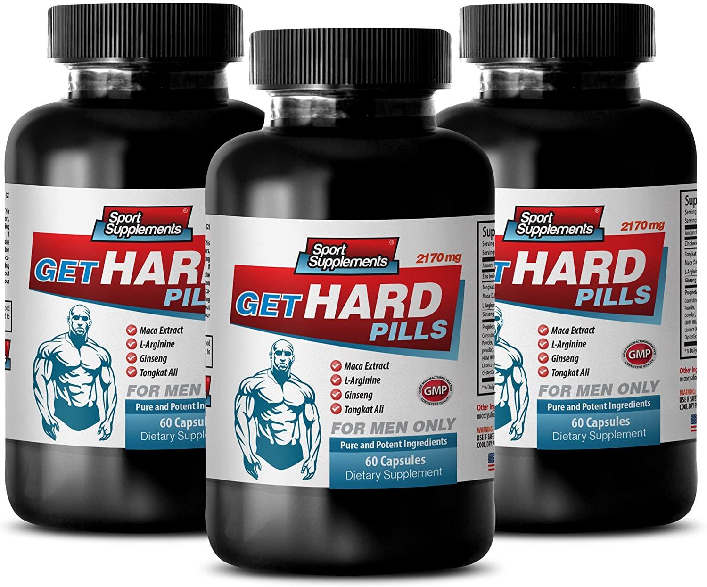 Enhancement Men - GET Hard Pills - maca Energy - 3 Bottle (180 Capsules)