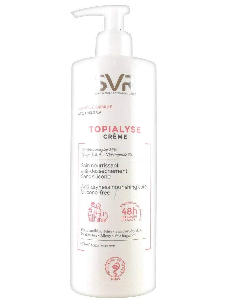 SVR LABORATOIRES TOPIALYSE SENSITIVE CREAM 400ML. Anti-Dryness Nourishing Care Gift to Your New Year Skins