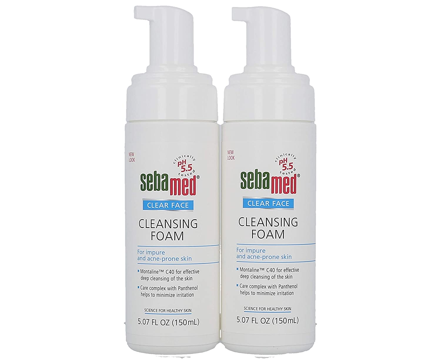 Sebamed Clear Face Cleansing Foam Gentle Face Wash for Impure Oily and Acne-prone Skin 5.07 Fluid Ounces (Pack of 2)