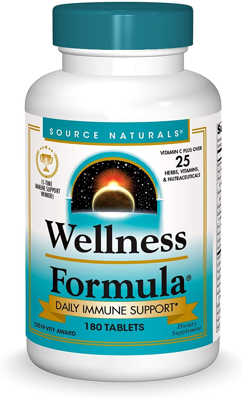 Source Naturals Wellness Formula Bio-Aligned Vitamins & Herbal Defense - Immune System Support Supplement & Immunity Booster - 180 Tablets