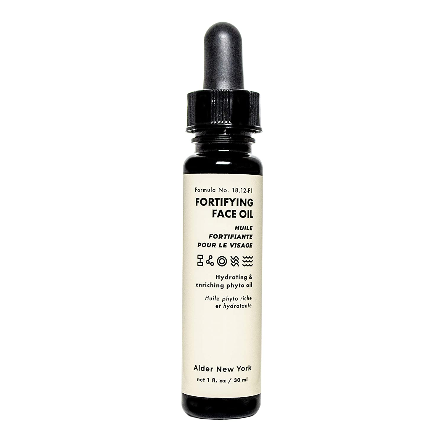 Alder New York Fortifying Face Oil- Hydrates & Enriches with Plant Squalane & Jojoba Oil