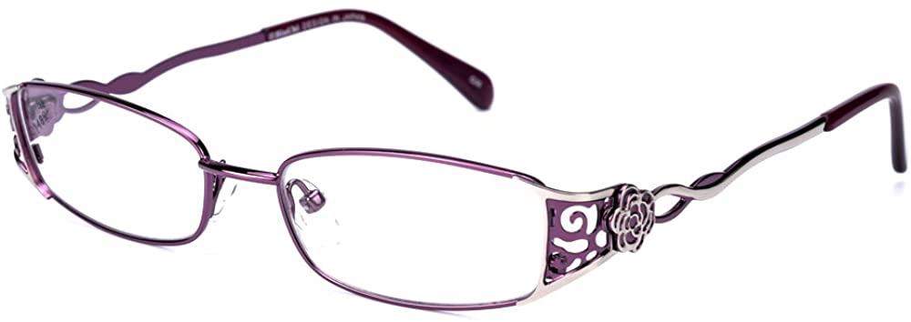 Rafbenson Full Frame Metal Alloy Stainless Steel Reading Glasses Women With Case