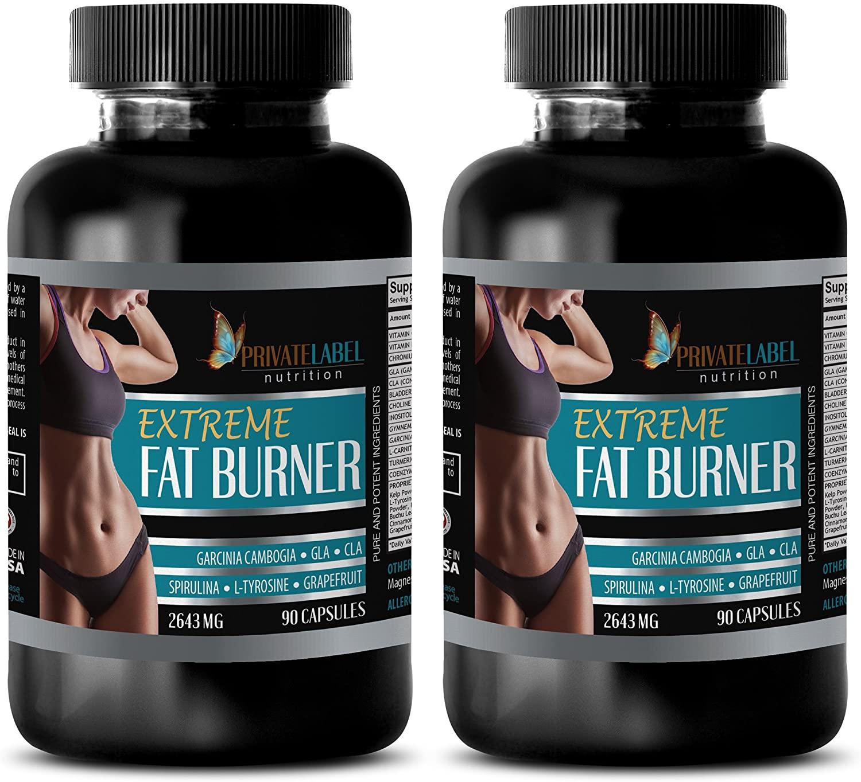 Weight Loss Pills - 2645MG Extreme Fat Burner - Fat Burner - 2 Bottles (180 Capsules)