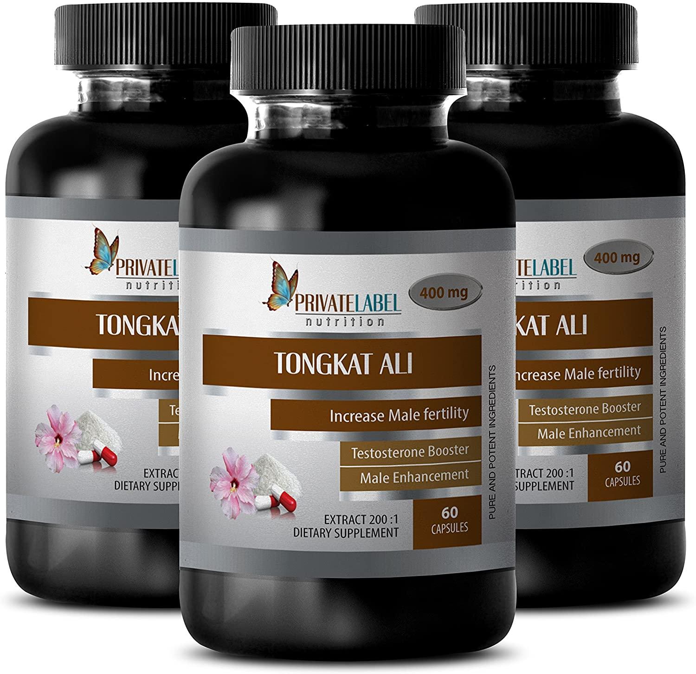 Increase libido Supplement - TONGKAT ALI Root Extract - Longjack tongkat ali Capsules - 3 Bottles 180 Capsules