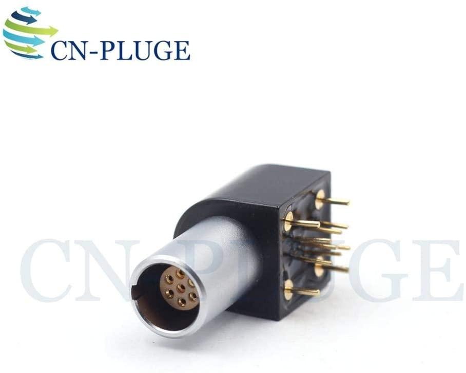 Davitu Electrical Equipments Supplies - Wiring Connector M09B Type EPG 0B 2 3 4 5 6 7 9 pin Elbow Printed Socket Adapter Push Pull Self Locking - (Color: 7 PIN, Pins: Socket)