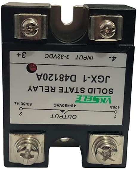 JGX-1 D48120A black type ssr-120da 120 a solid state relay 48V to 480VAC