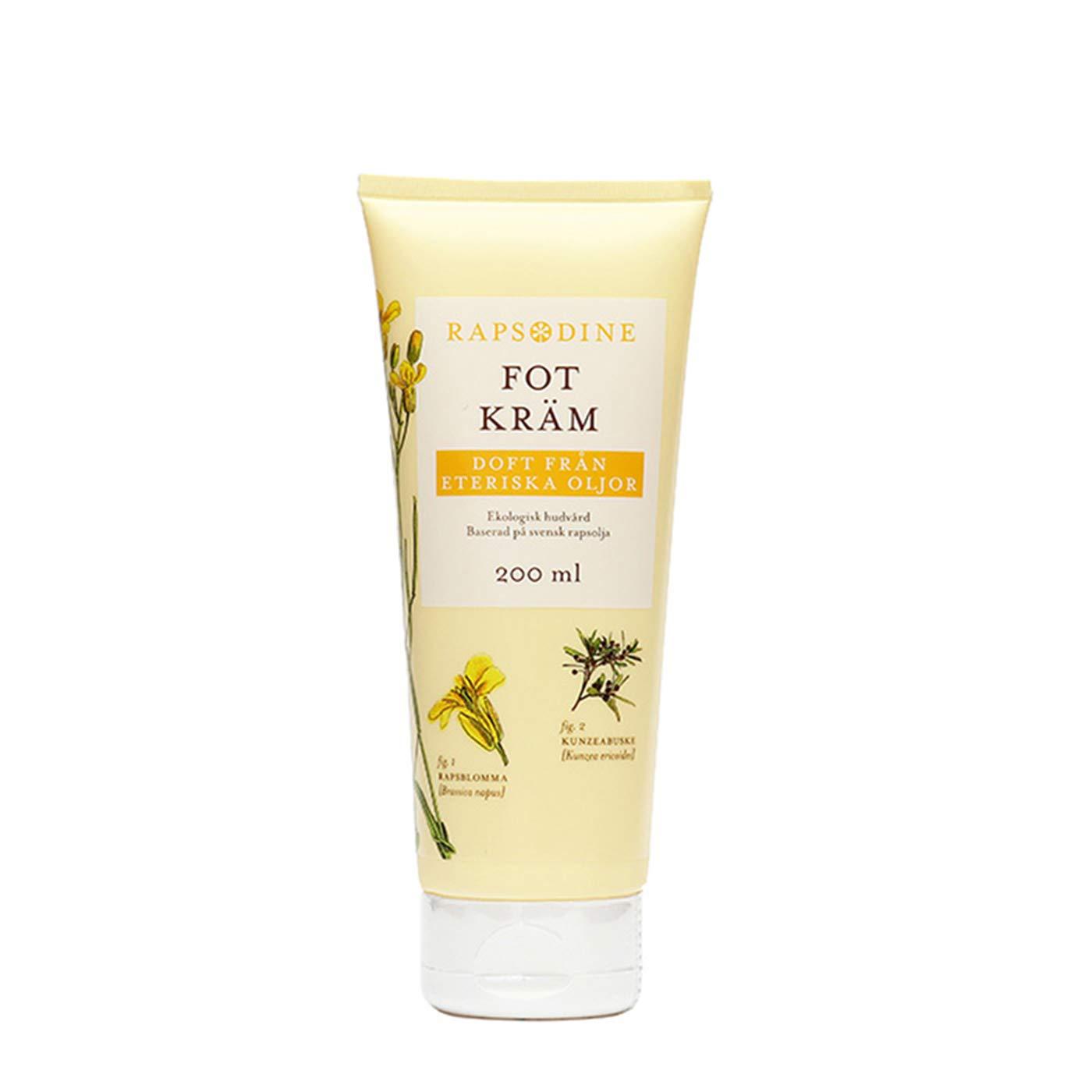 Rapsodine Moisturizing Foot Cream with Kunzea and organic Swedish Canola oil, 200 ML / 6.76 oz