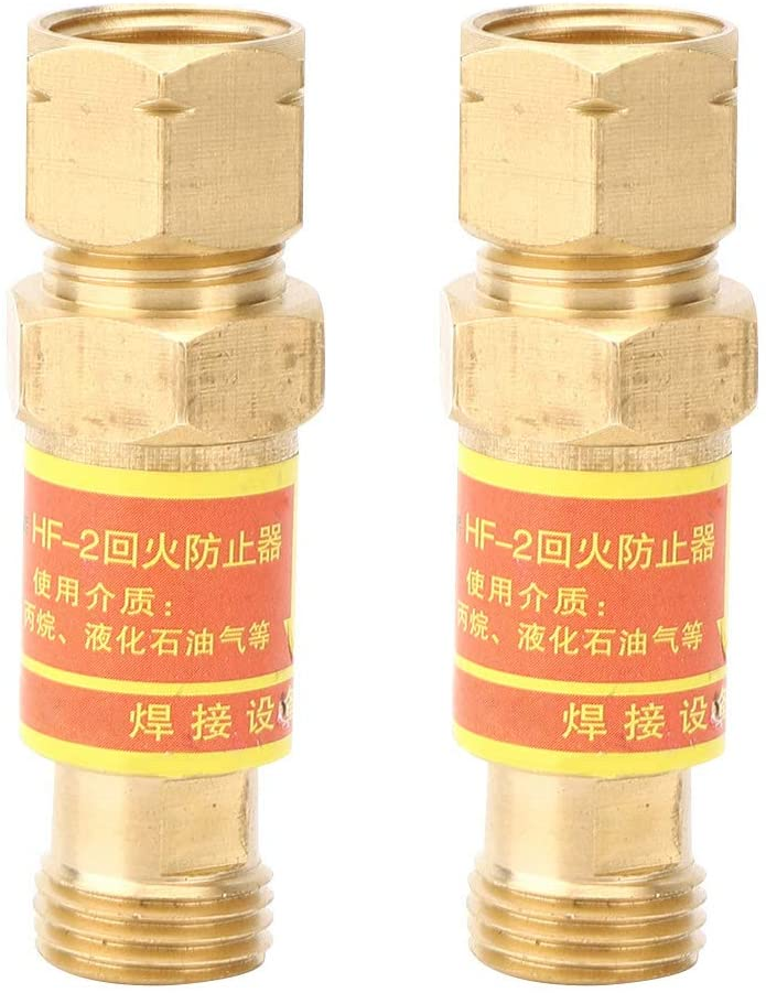 2pcs HF-2 Flashback Arrestors Set Copper Safety Valve Gas Welding Accessory