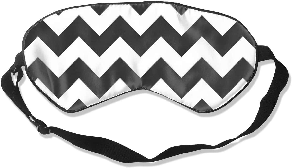 Gray and White Zig Zag Women Men Eye Shade Cover for Sleeping,Eye Mask for Night Sleep