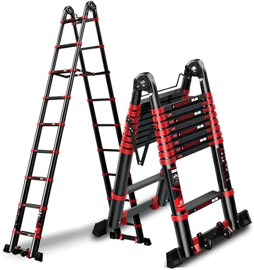 Multi-Purpose Telescopic Aluminium Ladder, Durable Ladder Multi-Purpose Aluminium Telescoping Ladder, Extension Extend Portable Ladder (Size : 2.9m/9.5ft(2.9m+2.9m))