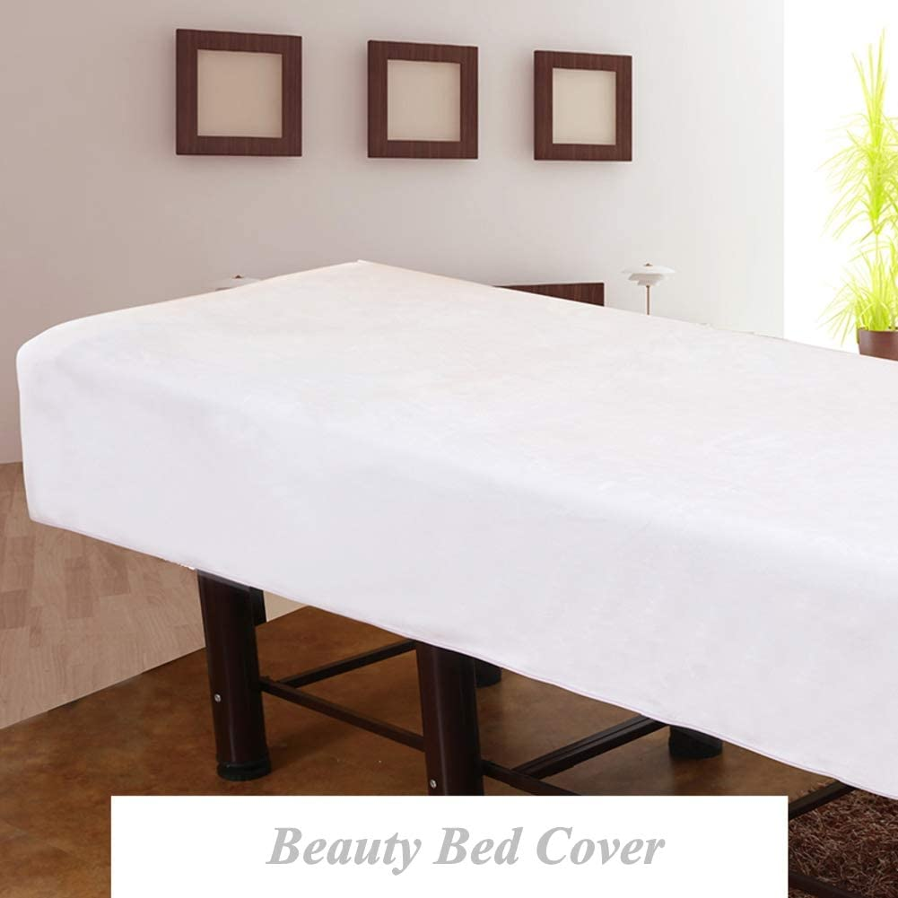 DXTY with Face Hole for Beauty Salon Spa Beauty Bed Cover Pure Color Beauty Bedsheet Spa Treatment Massage Sheet Set Massage Table Pads Anti-Slip B 190x120cm
