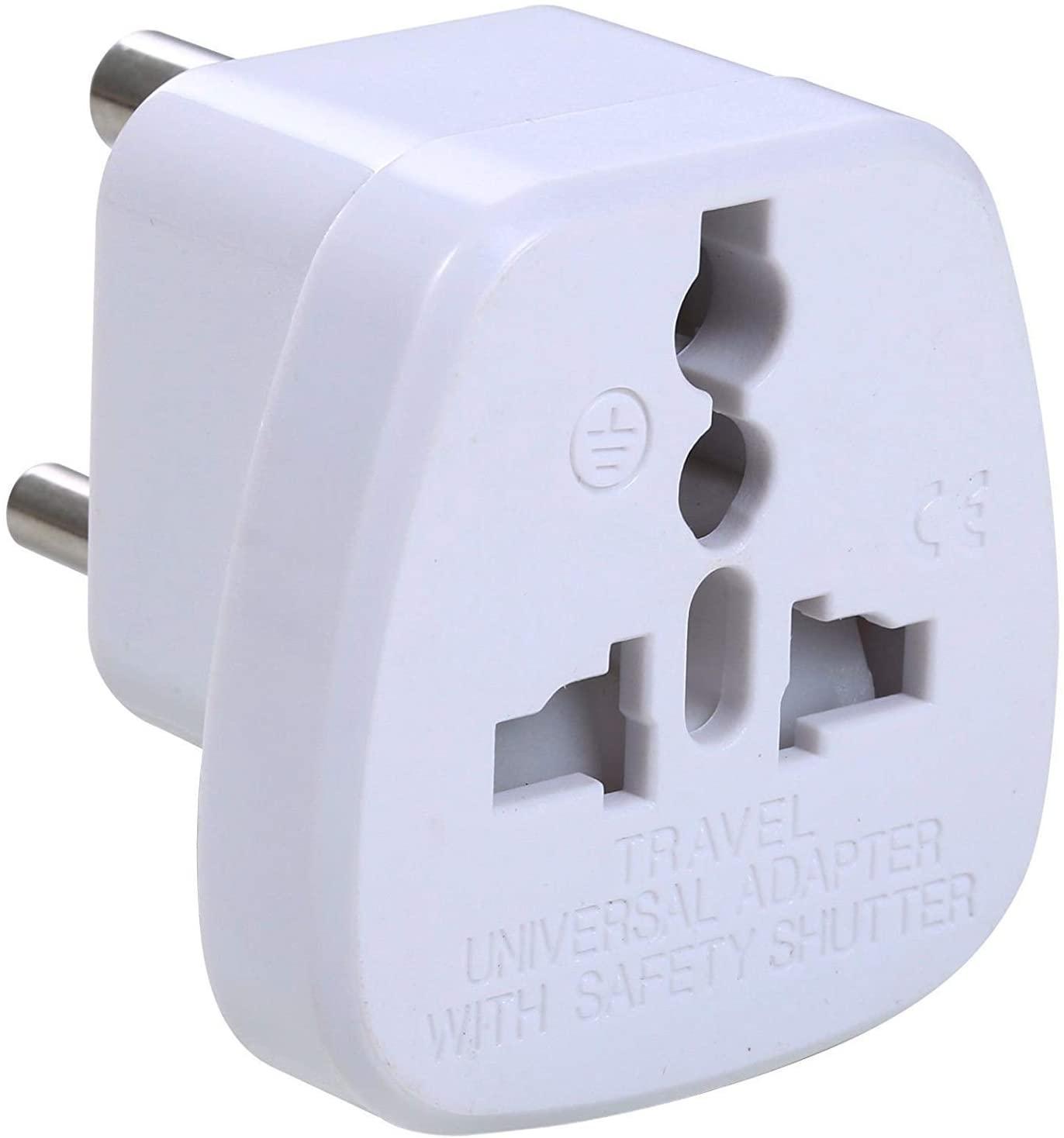 UHPPOTE Type D Travel Plug Adapter Adaptor for India Nepal Pakistan Nepal Bhutan (Pack of 5)