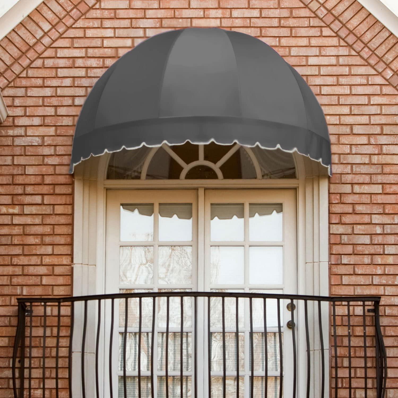 Awntech 3-Feet Bostonian Window/Entry Awning, 31 by 24-Inch, Gray