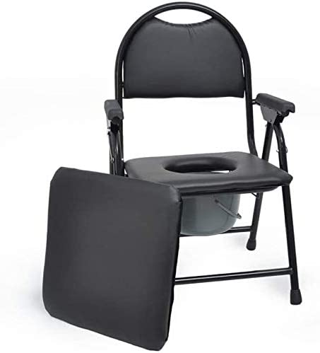 NDW Folding Toilet Commode Toilet Chair, Bedside Safety Frame Chair Toilet Chair 0405