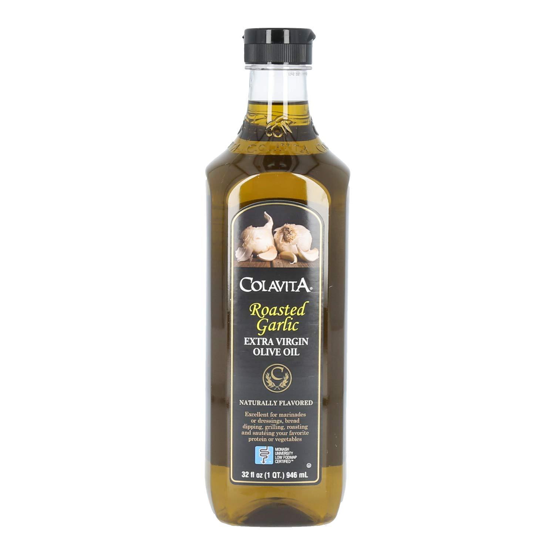 Colavita Roasted Garlic Extra Virgin Olive Oil, Low FODMAP, 32 Fl Oz (Pack of 1)