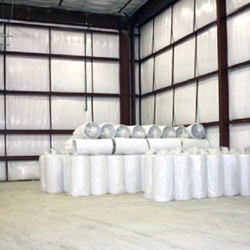 400sqft (4ftx100ft) Solid White Reflective Vapor Heat Barrier Insulation R7-R21