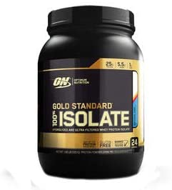 Optimum Nutrition Gold Standard 100% Isolate 3 LB TUB 2019 44 Servings New HYDROLYZED and Ultra Filtered Premium Isolate Protein (1.5 LB Birthday Cake)