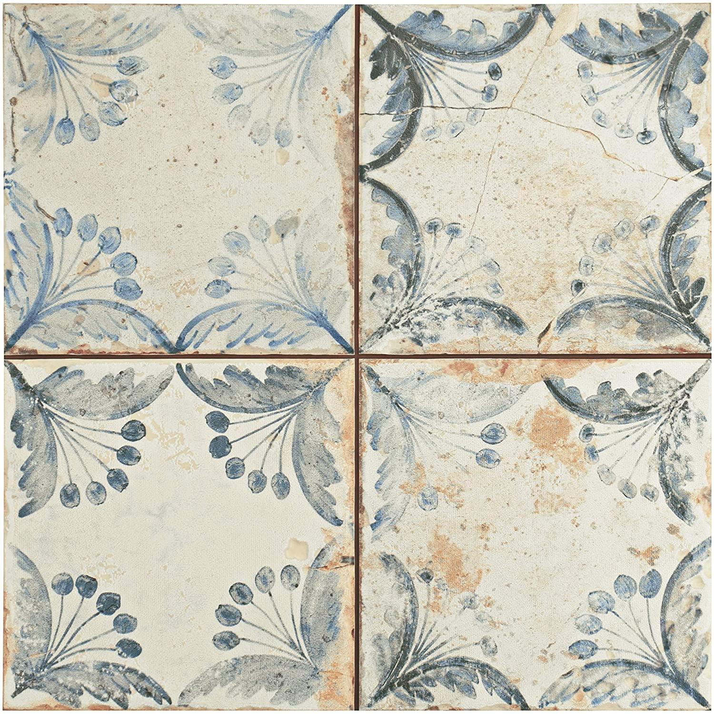 SomerTile FPEOLD Sylvan Ceramic Floor & Wall Tile, 13 inch x 13 inch, 13