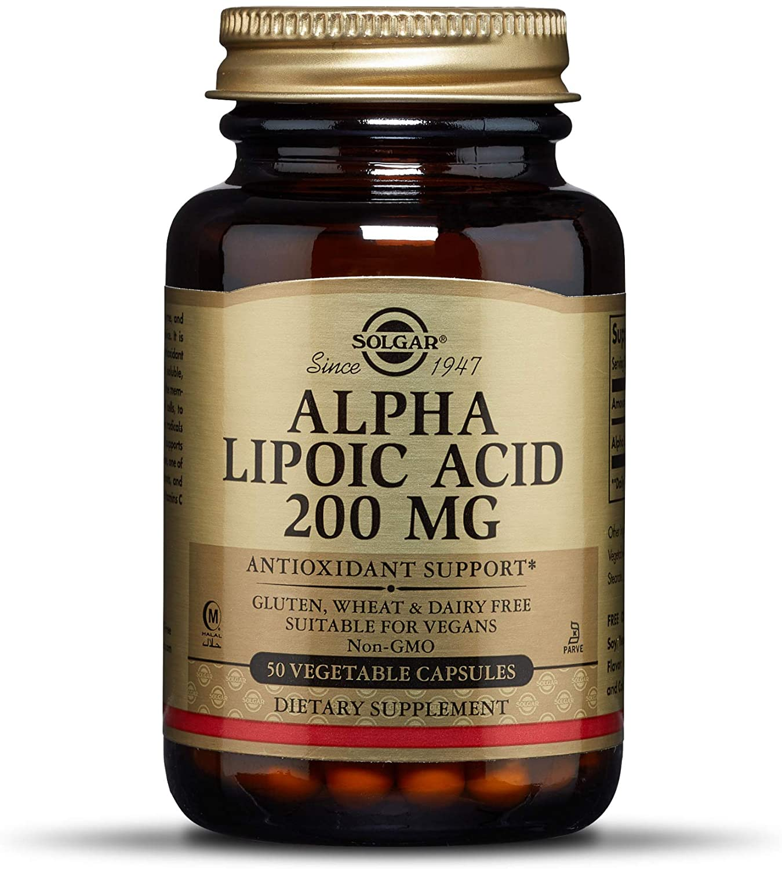 Solgar – Alpha Lipoic Acid 200 mg, 50 Vegetable Capsules
