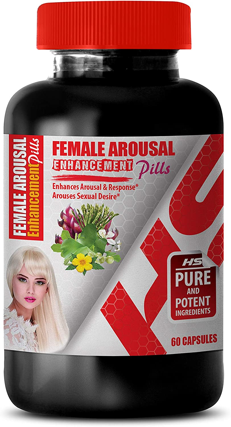 Female Arousal Enhancement Pill - Female Arousal Enhancement Pills Complex - Horny Goat Weed Extract with maca & tribulus - 1 Bottle 60 Capsules